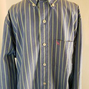 Abercrombie and Fitch Men's Button Down Shirt Blue